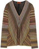 Missoni Metallic Crochet-Knit Sweater - Lyst