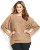 Inc International Concepts Plus Size Allover Hstl Dolman Sweater - Lyst