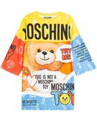 Moschino Printed Cotton T-Shirt Dress - Lyst