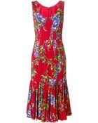 Dolce & Gabbana Wisteria Print Sheath Dress - Lyst