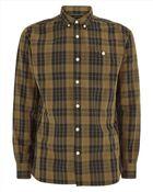 Jaeger Large Check Slim Shirt - Lyst