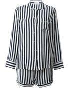 Equipment Striped Pajama Shirt And Shorts Set - Lyst