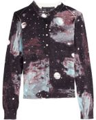 Marc By Marc Jacobs Galaxy Print Cotton Cardigan - Lyst