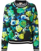 P.a.r.o.s.h. Floral Print Sweater - Lyst