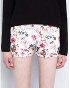 Pull&Bear Floral-Print Shorts - Lyst