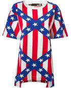 Love Moschino Stripe And Star Print T-Shirt - Lyst