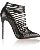 Christian Louboutin Gortik 120 Python And Patent-Leather Ankle Boots - Lyst