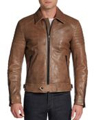 Belstaff Atherley Leather Moto Jacket - Lyst