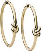 Michael Kors Knot Hoop Earrings - Lyst