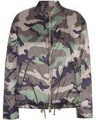 Valentino Camouflage-Printed Bomber Jacket - Lyst