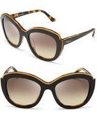 Ferragamo Colorblock Oversized Sunglasses - Lyst