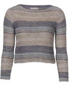 Stefanel Patterned Stitch Sweater - Lyst