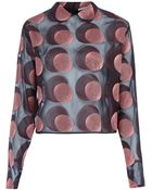 Marco De Vincenzo Pink Spotted Long Sleeve Blouse - Lyst