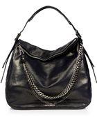 Jimmy Choo Boho Metallic Leather Hobo Bag - Lyst