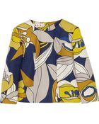 Marni Printed Woven Cotton-Blend Top - Lyst