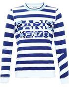Kenzo Striped Sweatshirt - Lyst