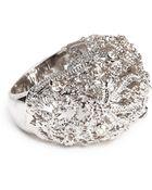 Alexander McQueen Crystal Filigree Dome Ring - Lyst