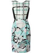 Antonio Marras Sequin Floral Print Dress - Lyst