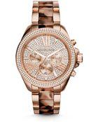 Michael Kors Wren Rose Gold-Tone Acetate Watch - Lyst
