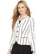 Lauren by Ralph Lauren 3-Button Striped Blazer - Lyst