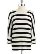 Calvin Klein Striped Dolman Sleeved Top - Lyst