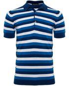 John Smedley Striped Knots Polo Shirt - Lyst