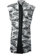 Kenzo Wave Shirt Dress - Lyst