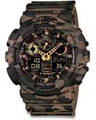 G-Shock Classic Series Camo-Print Analog Digital Watch/Brown - Lyst