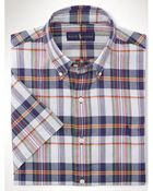 Polo Ralph Lauren Slim-Fit Checked Cotton Short-Sleeved Shirt - Lyst