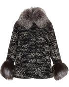 Missoni Knit Jacket With Fox Collar - Lyst