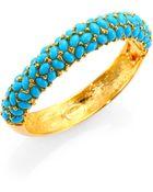 Kenneth Jay Lane Cabochon Cluster Bangle Bracelet - Lyst
