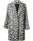 Diane von Furstenberg 'Vivienne' Leopard Print Coat - Lyst