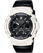 G-Shock Men'S Analog-Digital Black Resin Strap Watch 46X52Mm Awgm100Gw-7A - Lyst