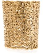 Aurelie Bidermann Gold-Plated Vintage Lace Cuff - Lyst