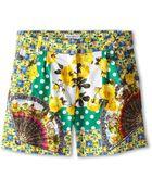Dolce & Gabbana Floral Print Short (Big Kids) - Lyst
