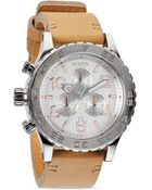 Nixon The 42-20 Chrono Leather Strap Watch, 48Mm - Lyst