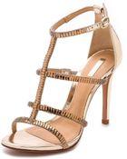 Schutz Donna Strappy Sandals - Platina - Lyst