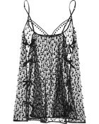 Agent Provocateur Bobbie Embroidered Tulle Chemise - Lyst