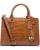 Michael Kors Dillon Small Embossed-Leather Satchel - Lyst