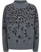 Rag & Bone Isadora Leopard Print Sweater - Lyst
