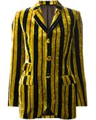 Jean Paul Gaultier Striped Velvet Jacket - Lyst