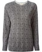 MICHAEL Michael Kors Herringbone Print Sweater - Lyst