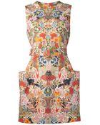 Alexander McQueen Sleeveless Fitted Mini Dress - Lyst