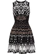 Karen Millen Texture Knit Dress - Lyst
