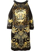 Versace Baroque Print Dress - Lyst