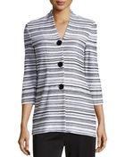 Misook Striped Three-Button Jacket - Lyst