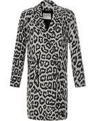 Sea Leopard Canvas Overcoat - Lyst