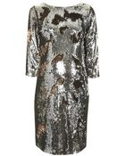 Topshop Maternity Two-Tone Sequin Bodycon Dress - Lyst
