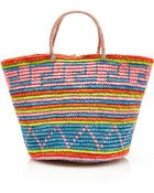 Sensi Studio Maxi Straw Tote In Tribal Print - Lyst