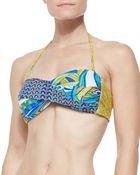 Trina Turk Amazonia Twisted Printed Bandeau Top - Lyst